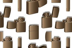 Metal windproof lighter pattern