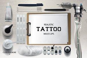 Vector tattoo mock ups
