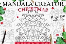 Christmas Holiday Mandala Creator by Calvin Drews in Plug-ins