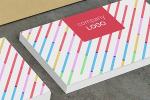 Color Stripe Business Card