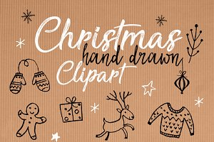 Christmas Black & White clipart