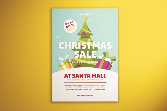 christmas sale flyer vol 01 flyer templates creative market