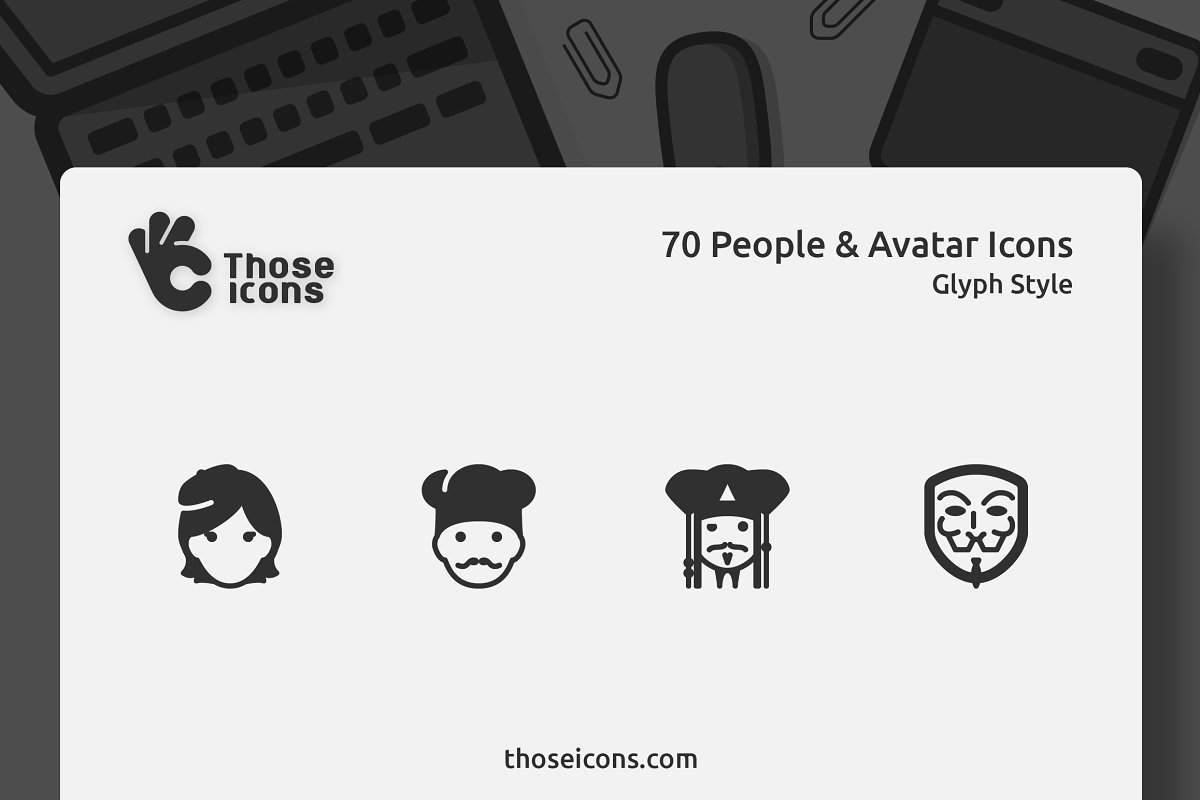 70 People & Avatars Glyph Icon