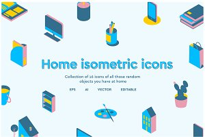 Home isometric icons