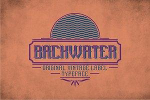 Backwater Vintage Label Typeface