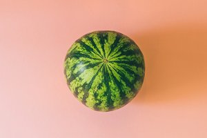 raw round watermelon