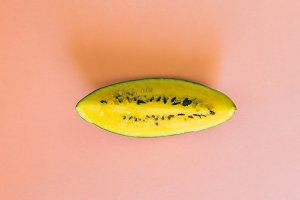 Yellow watermelon slice