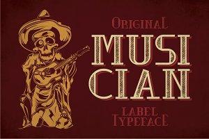 Musician Modern Label Typeface