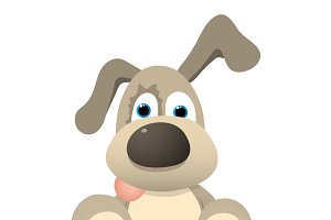 Funny Cartoon Dog.