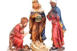 The three Wise men with Jesus