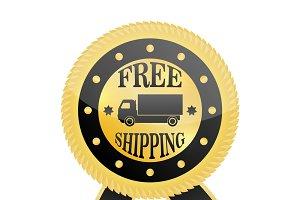 Free Shipping Golden Badge