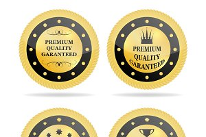 Quality golden badges