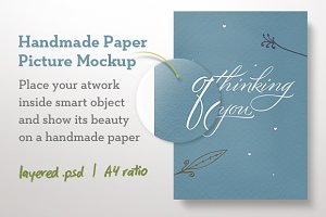 Handmade Paper Picture Mockup