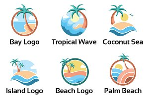 Beach Bay Sea Palm Island Logo