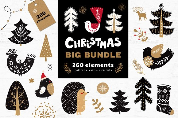 Big Christmas Bundle-Graphicriver中文最全的素材分享平台