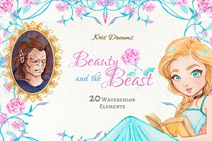 Beauty and the Beast Clipart
