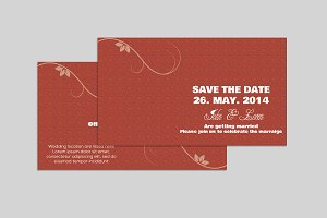 Save The Date Invitation V703