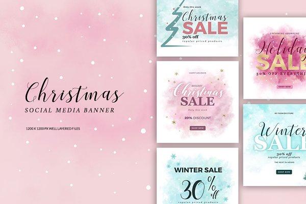 12 Christmas Social Media Banner