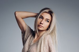 blonde girl with long hair