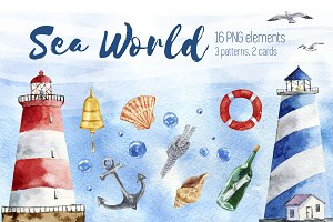 Sea World Watercolor set