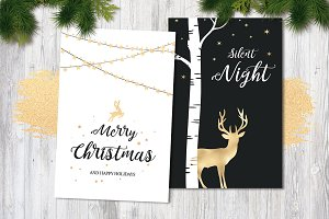 Black & White Christmas Cards Vol. 2