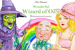 Wizard of Oz Clipart Set 2
