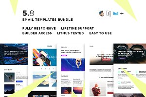 5 Email templates bundle VIII