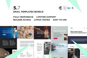 5 Email templates bundle VII