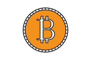 Bitcoin color icon