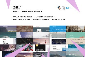 25 Email templates bundle + Builder