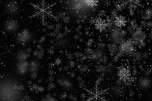 Snowfall on black background