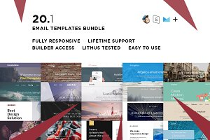 20 Email templates bundle + Builder