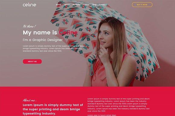 Celine Creative One Page HTML