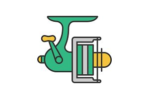 Spinning reel color icon