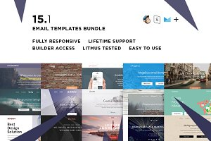 15 Email templates bundle + Builder