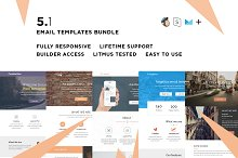 5 Email templates bundle I by  in Campaign Monitor