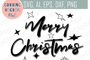 merry christmas svg christmas vecto