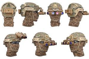 Helmet night goggles set
