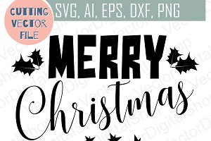 Merry Christmas SVG, Christmas vecto