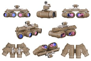 Night military goggles set