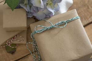 gift box, recycled paper