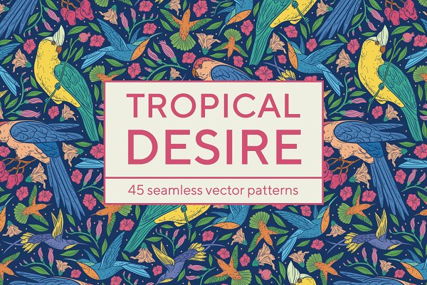 Tropical desire patterns -45% OFF