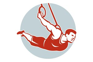 Fitness Athlete Muscle-Up Gymnastic
