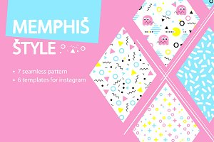 MEMPHIS STYLE:templates and patterns