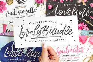 The Lovely Bundle I Fonts + EXTRAS!