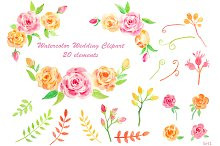 Wedding Pink Yellow Rose collection