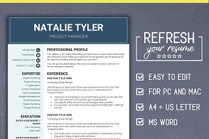 Resume CV Template MS Word (A4 + US)