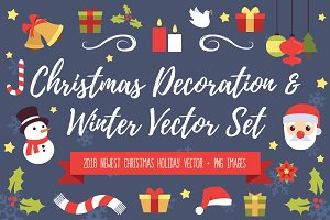 Christmas Decoration Clip Art Set