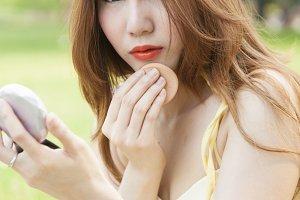 Asian woman makeup