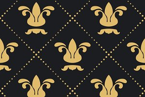 Floral royal background pattern